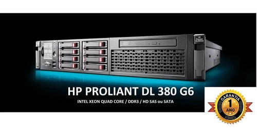 Servidor Hp Proliant Dl380 G6, Intel Xeon Sixcore X5650, 16gb Ram Ddr3, Hd Sas, 4 Portas Rede Gigabit, 1 Ano Garantia