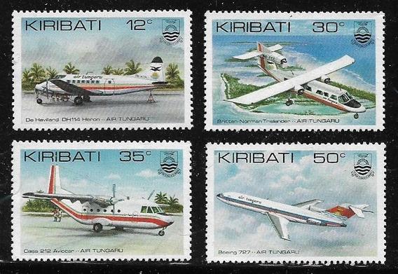 Kiribatí Serie De 4 Estampillas Mint Tema Aviación Año 1991