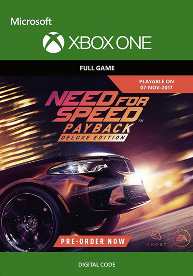 Need For Speed Payback Xbox One Deluxe Edition Midia Digital