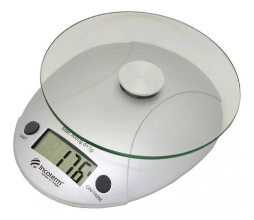 Imagem 1 de 5 de Balança De Cozinha Digital Base Vidro Com Tara Incoterm