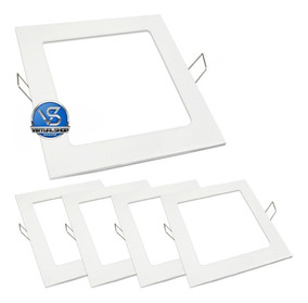 Kit 5 Painel Plafon Led 25w Luminaria Spot Embutir Slim