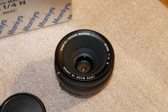 Objetiva Mamiya 645 80mm F4 Macro - Zero !