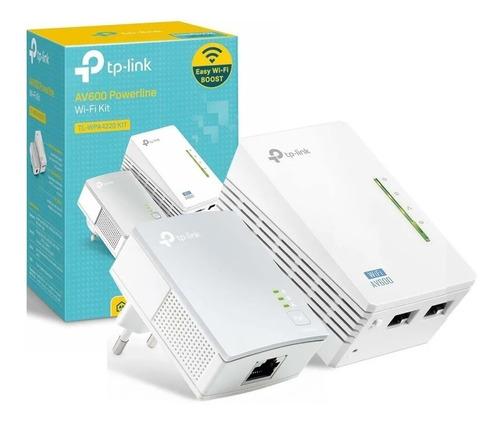 Imagen 1 de 10 de Kit Extensor Powerline Wifi Av600 A 300 Mbps Tl-wpa4220kit