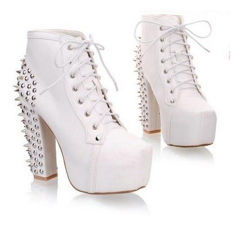 Ankle Boot Bota Feminina Spikes