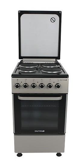 Cocina Eléctrica Plata 50cm 4 Hornallas Grill Dalton Novoga
