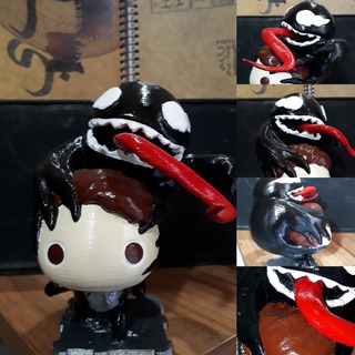 Figura Venom Funkopop 12cm De Alto Impreso En 3d