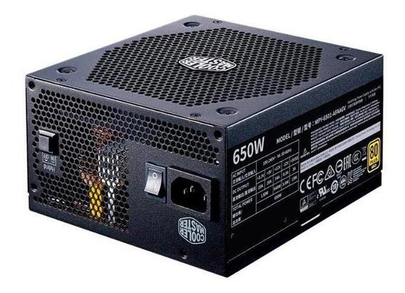Fonte Cooler Master 650w Gold Plus 80 Atx Sem Cabo