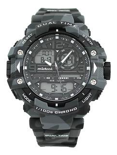Reloj Mistral Camuflado Dual Time Gadg13614cm01