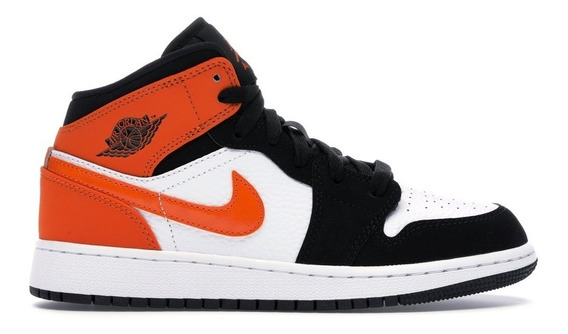 Air Jordan 1 Nike Sneaker Mid Og Ds Orange/black