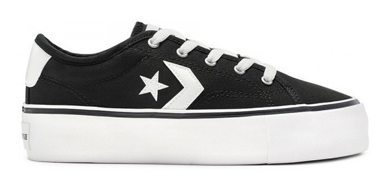 Star Replay Plataform Negro/blanco Converse 565366c