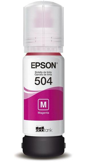 Cartucho Refil De Tinta Epson T504 Magenta