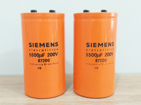 Kit 2 Capacitor Eletrolitico 5500uf 200v Siemens 142mm /70mm