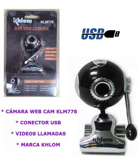 Camara Web Cam Klm778 Khlom Pc Latop Usb Desktop Skype Ccc