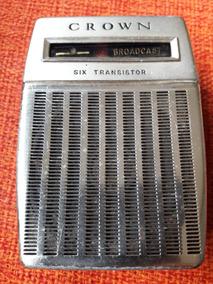 Rádio Antigo Portátil Crown Japan Six Transitor Leia Descriç