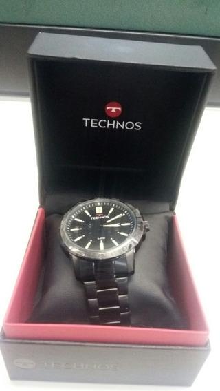 Relógio Thecnos Original,novo,garantia,pulseira Metal Preta!