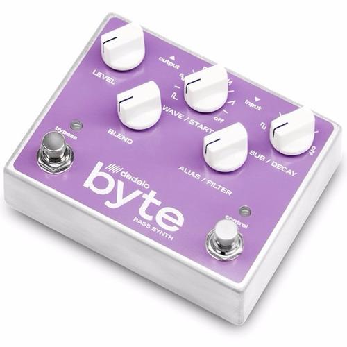 Pedal Dedalo Byte Bass Synth Efecto De Bajo Sintetizador
