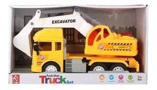 Ck Camión Bombero-excavadora O Mezclador Con Luces Y Sonido