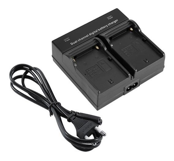 Carregador Duplo P/ Bateria Sony Np-f550 F570 Np-f970 - P71