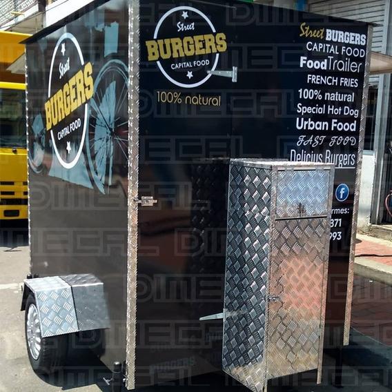 Food Truck, Remolque, Comidas, Carros De Comidas, Alimentos.