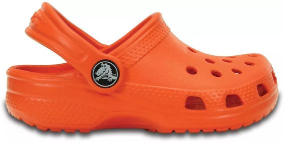 Crocs Infantil Classic Kids Clog Feminino - Laranja
