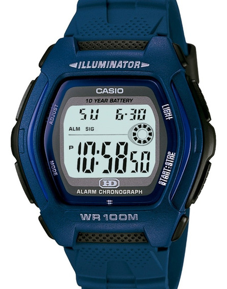 Relógio Casio Masculino Digital Azul Quadrado Hdd-600c-2avdf