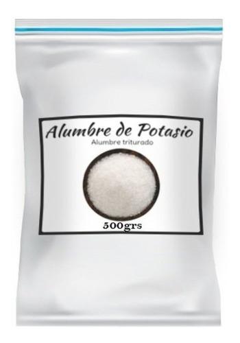 Alumbre De Potasio 100% Natural Uso Cosmetico 500grs Caba