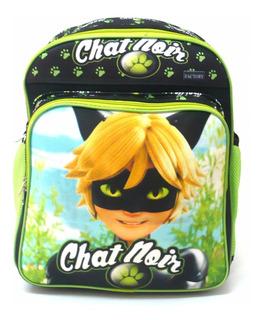 Mochila Infantil Cat Noir Ladybug Costas Meninos Tam G F4