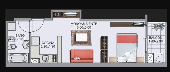 Alquiler Mono Ambiente Caballito Norte // Parrilla // Bauler