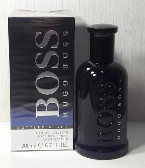 Perfume Hugo Boss Bottled Night 200ml Original Nota Fiscal.