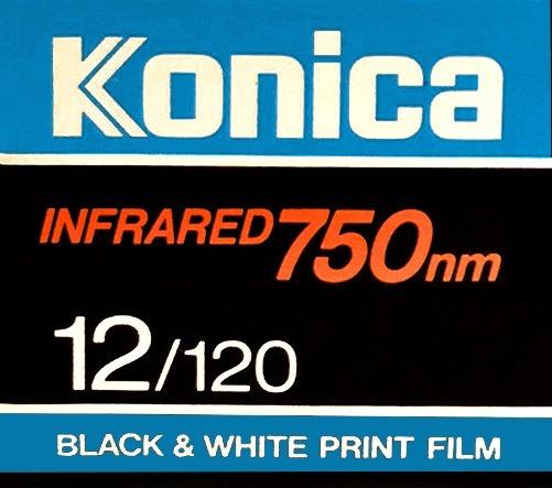 Filmes Infrared P&b: 1 Konica, 3 Ilford, Todos 120, Vencidos