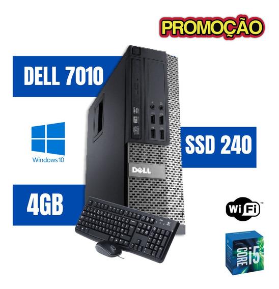 Cpu Desktop Dell 7010 I5 4gb 240gb Win10 Teclado E Mouse !!
