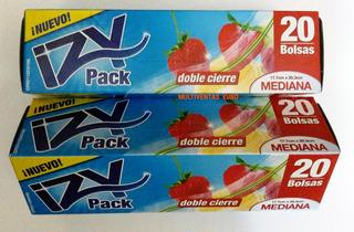 Bolsas Cierre Hermetico Izy Pack Mediana 20 Unid.tip- Ziploc