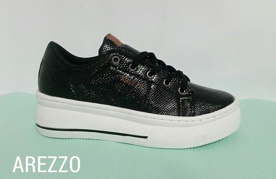 Tênis Arezzo 34 Ao 39 Sneaker Em Couro .