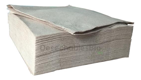500 Servilletas Biodegradable Papel Kraft Reciclado 30x30 Cm