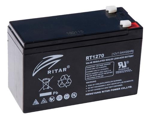 Bateria 12v 7ah Recargable P/ups, Alarma Ritar Rt-1270
