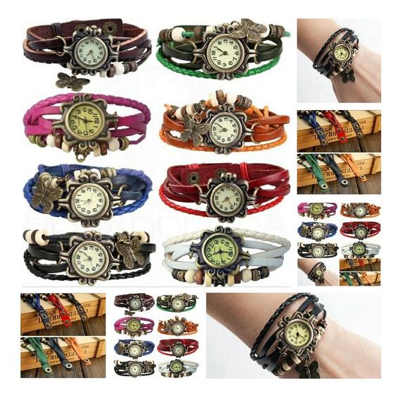 Kit 12 Relógio Feminino Pandora Pingente Couro Atacado Lote