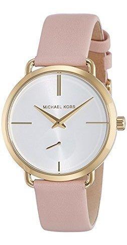 Relógio Mk Michael Kors Pulseira De Couro Rosa Mk2659/2kn