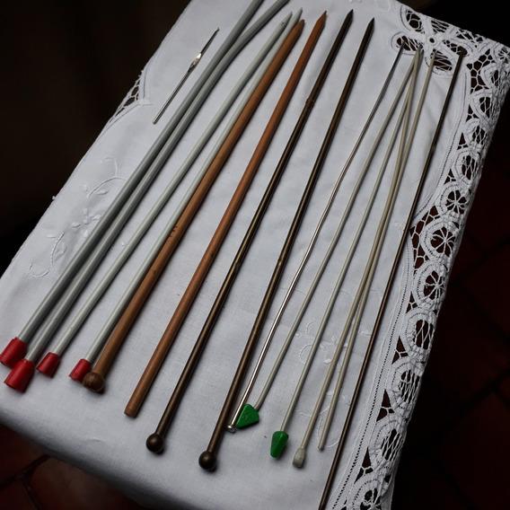 Lote ( 6 Pares) De Agujas Para Tejer (1) Aguja De A Crochet