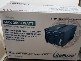 Transformador Litefuze Lt-3000 3000 Watt Voltage Converter