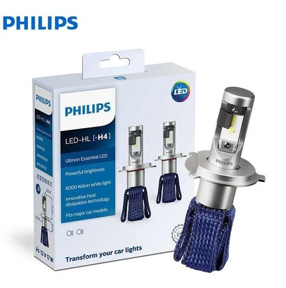 Lâmpadas H4 Philips Ultinon Led 6000k Tamanho Compacto