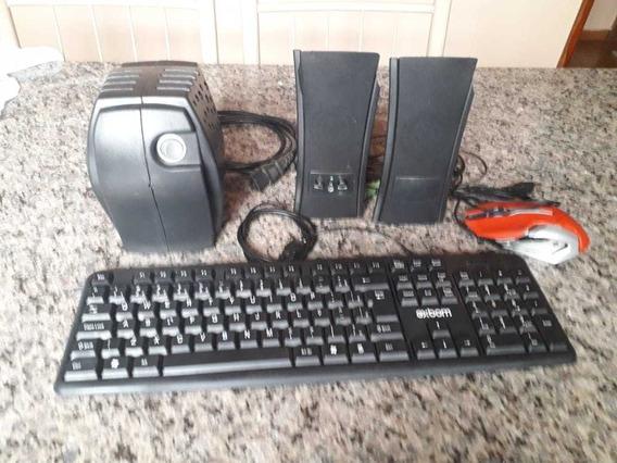 Estabilizador 127v Teclado Mouse Gamer Caxinhas E Cabos
