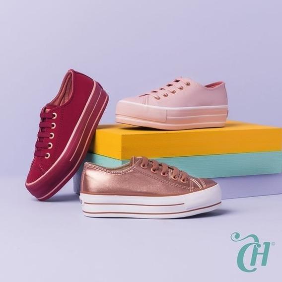 Tenis Capricho Cp0599 Sugar Shoes - Solado Plataforma 2019
