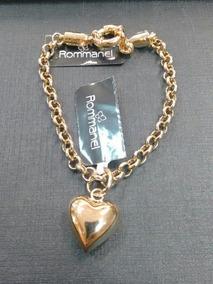 Pulseira Rommanel Elo Português Com Ping Coração Cod. 550399
