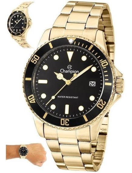 Relógio Masculino Dourado Banhado Original Aprova D