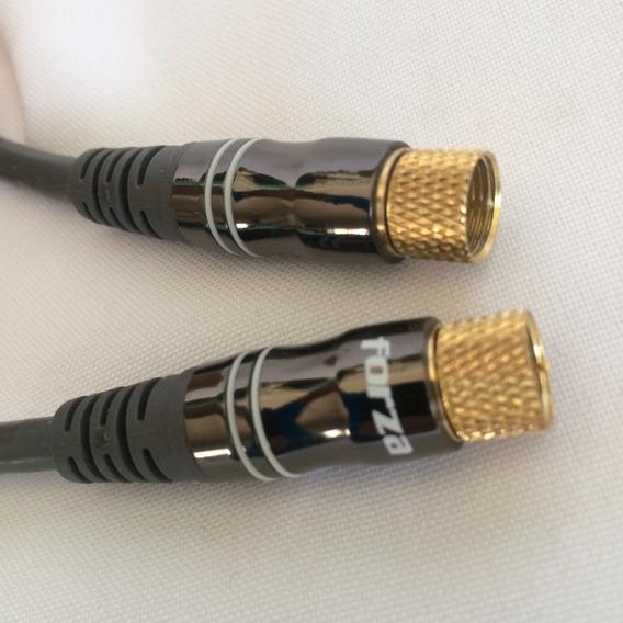 Cable Coaxial 1.5 Mtrs Tipo Rg6 Empalme Dorado - Marca Forza