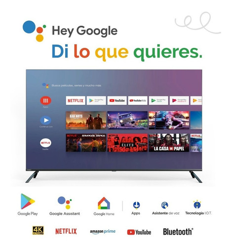 Televisor Hyundai 50 Smart 4k Android By Google