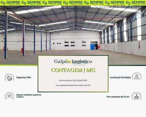 Imagem 1 de 21 de Galpão 2.200 M² Próximo Ao Carrefour Contagem - Mg - Ga1184