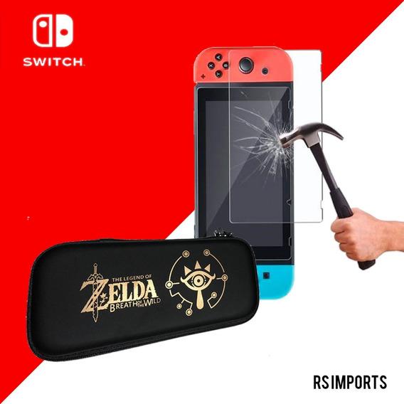 Case Capa Estojo Nintendo Switch Zelda + Pelicula Vidro