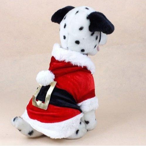 Papai Noel Na Escada E Cachorros Yorkshire Roupas