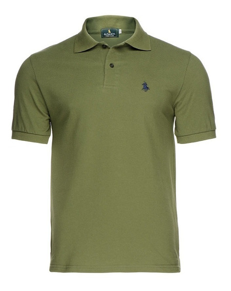 Playera Polo Club - Militar